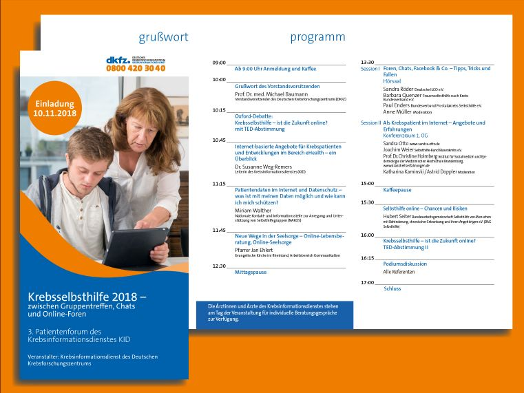 Patientenforum 2018 © Krebsinformationsdienst, Deutsches Krebsforschungszentrum