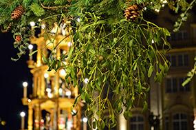 Mistelzweig auf dem Weihnachtsmarkt. © Peggy Choucair, Pixabay